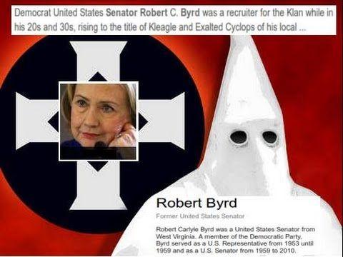 Hillary Clinton Memorializes KKK Leader, Sen. Robert Byrd! OMGOSH.... hear in…