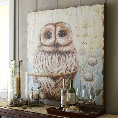 Vintage-Style Owl Art
