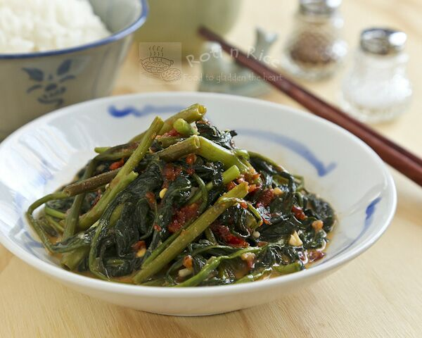 Stir Fry Spicy Water Spinach (Kangkung) - Roti n Rice