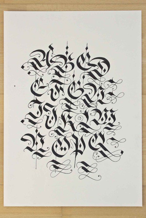 115 Best Images About Calligraphy Gothic Letters On