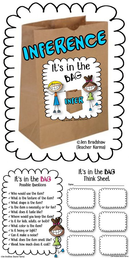 Inference Its In The Bag Reading Game Perfect For Inferring