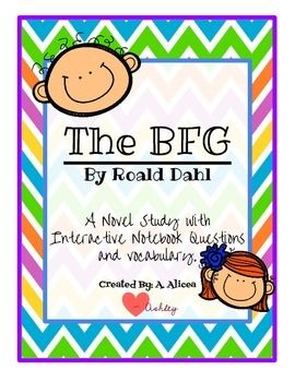 A great interactive notebook resource for Roald Dahl's The BFG. The pack includes comprehension journal questions and vocabulary foldable. There is also a comprehensive unit test included. Comprehension questions are Common Core and mCLASS aligned to 3/4 grade, but could be applicable to other grade levels.