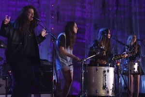 Lorde Teams up with Haim for an Epic Cover of Sheryl Crow's: http://teenv.ge/1iBi7pm