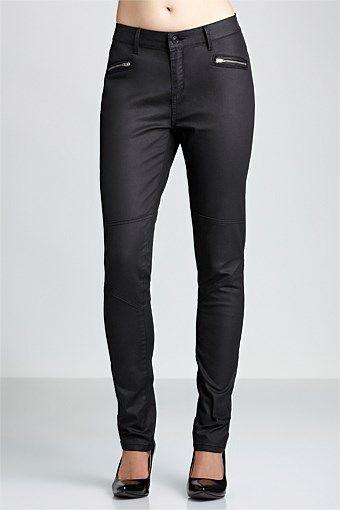 Emerge Pants - Brands - Emerge Coated Denim Jeans. Black size 10. $64. Long in leg. Very fitted. Great matt look.