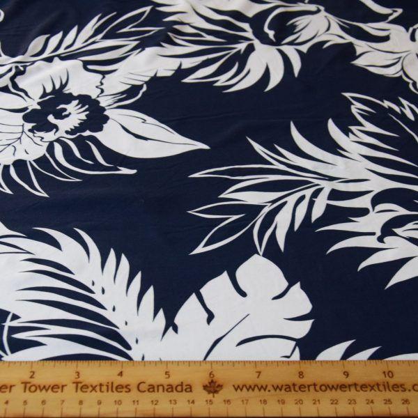 swim knit blue floral