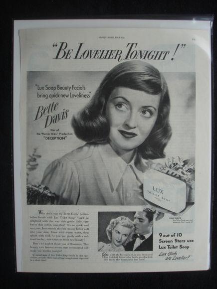 Bette Davis Soap Advert