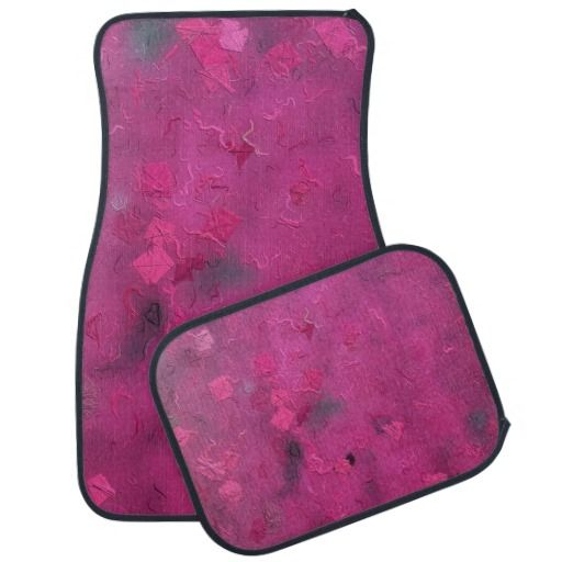 Beautiful Hot Pink and gray car mat set for her!!  $89.95 by khoncepts.com