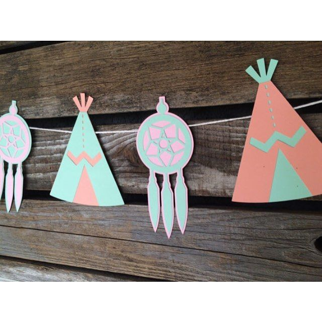 "24 Likes, 5 Comments - Maggie Ward (@blue_oak_creations) on Instagram: ""Boho tribal theme party supplies. Mint, salmon, and light pink for a refreshing color palette! See…"""