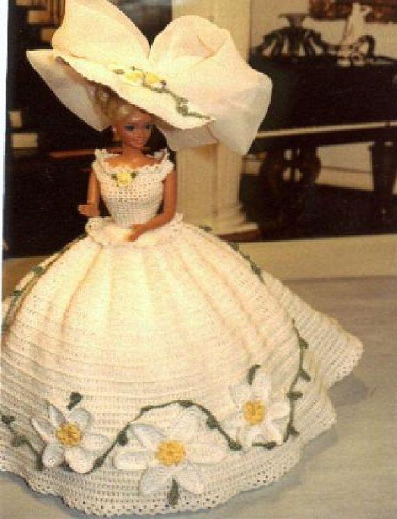 Crochet Fashion Doll Barbie Pattern 34 by JudysDollPatterns