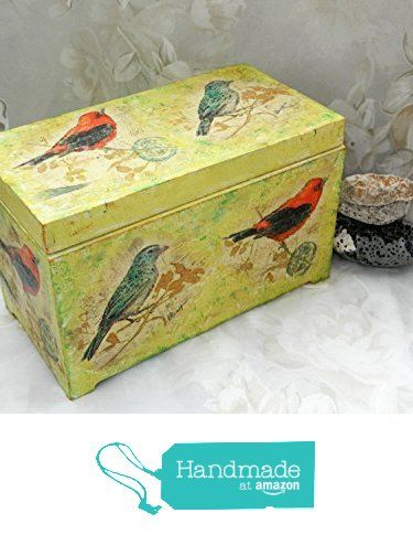 Bird box Wood box Rustic decor Wedding box Bridal shower gift Nursery decor Kids box Baby girl box Rustic wedding decor trinket keepsake storage jewelry holder Shabby chic decor Farmhouse decor