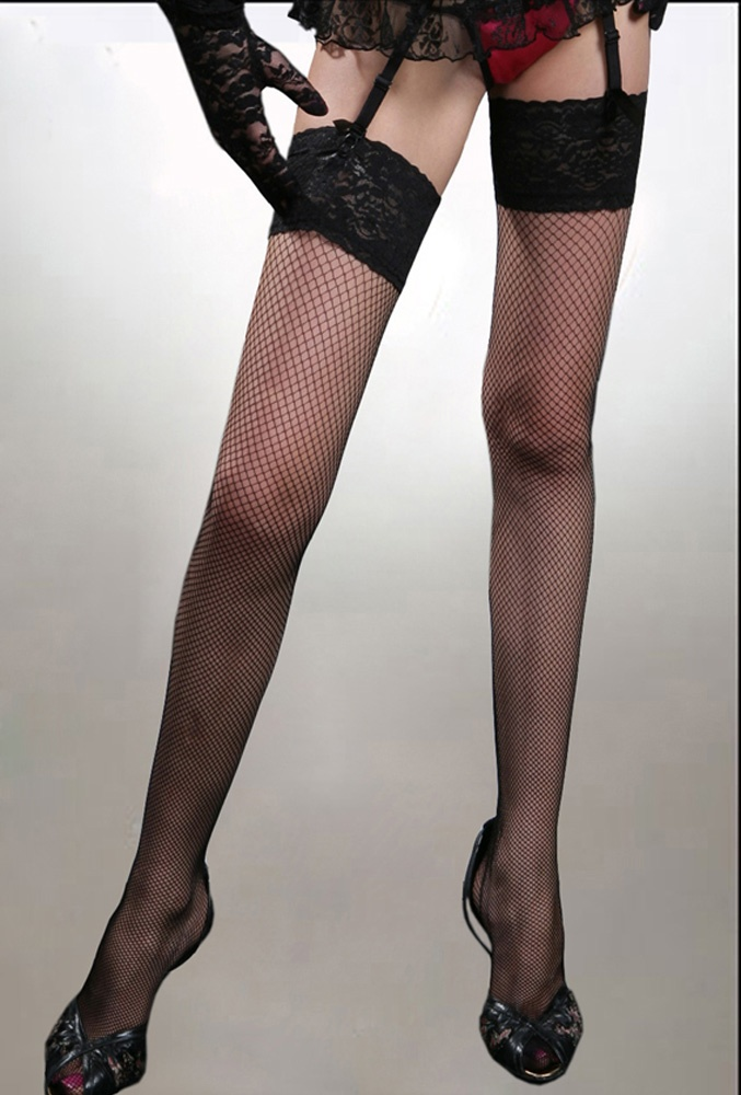 Lace Hold-up Net Stockings