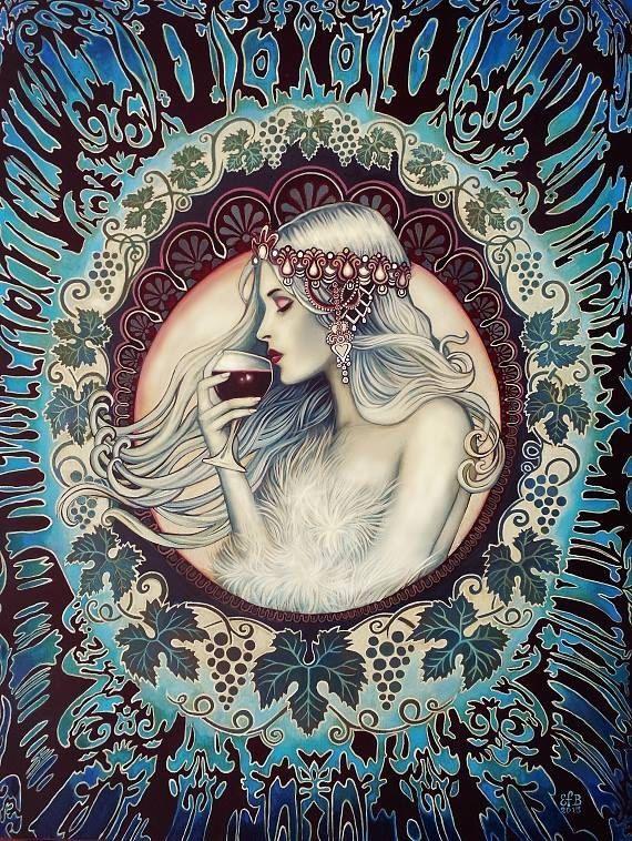 Khione déesse grecque de la carte de voeux hiver par EmilyBalivet