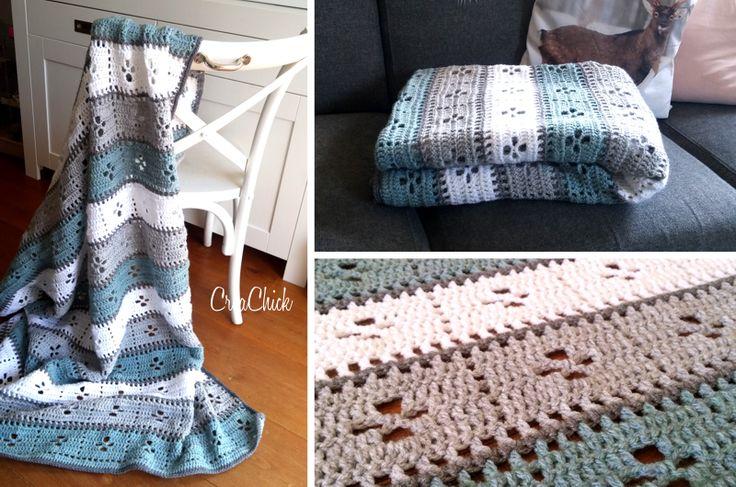 Crochet the Call the midwife blanket. Free pattern. Gratis patroon. Call the midwife deken haken. Inclusief Video tutorial.