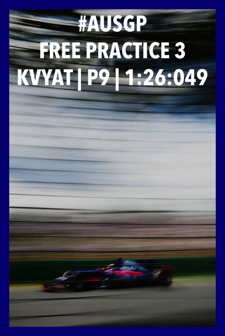 ⏱1:26:049 and P9 in #ausgp2017 FP3 /// Результаты 3-й тренировки перед Гран При 🇦🇺: ⏱1:26:049, P9 #f1 #formula1 #kvyat #квят #australia #melbourne