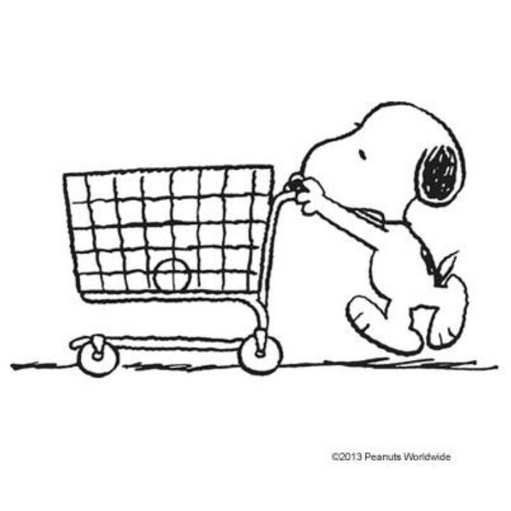 SNOOPY must not be at Target, or his cart would have more stuff in it!