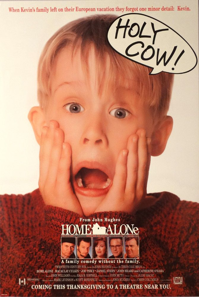 "Home Alone. 1990 Original US 27""x40"" Movie Poster.Excellent Childs Image.Macaulay Culkin,Joe Pesci,Daniel Stern,John Heard,Catherine O'Hara by ArtisticSoulStudio on Etsy"