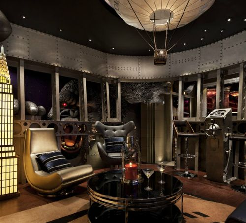 Cool Sci-Fi Man Cave (note The King Kong At The Window