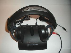 a sennheiser rs 40 hifi wireless supra aural headphone black
