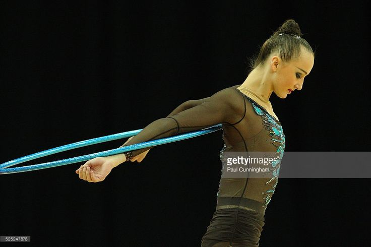Visa Federation of International Gymnastics (FIG) - Ganna Rizatdinova of Uzbekistan performs with the Hoop during the Final of the Women's Rhythmic Olympic qualification event at the O2 Arena London 18 January 2012 --- Image by �� Paul Cunningham/Corbis