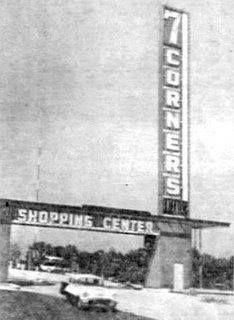 7 Corners Shopping Center, Falls Church Virginia.