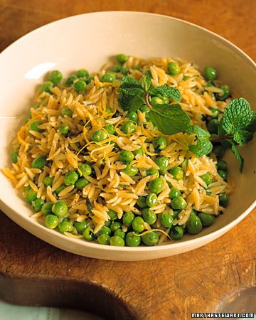 Orzo with Peas and Mint. Lily loves this minus the mint.
