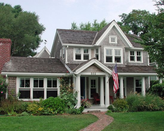 Beautiful. I really like the contrast of the siding and trim.