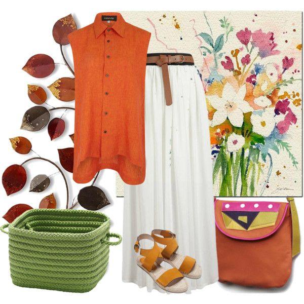 Trendy spring by borsebyd on Polyvore featuring moda, Eskandar, Zara, Colonial Mills, orange, bags and BorsebyD