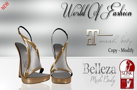 World Fashion -Izadora- Maitreya/Belleza/Slink High- Gold M2