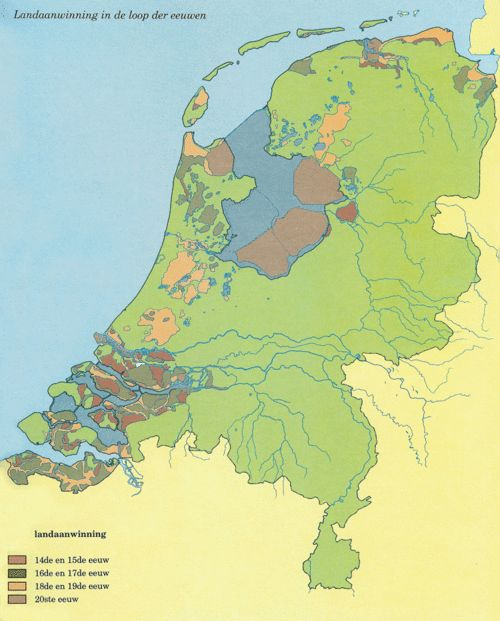Dutch Land Reclamation over the centuries