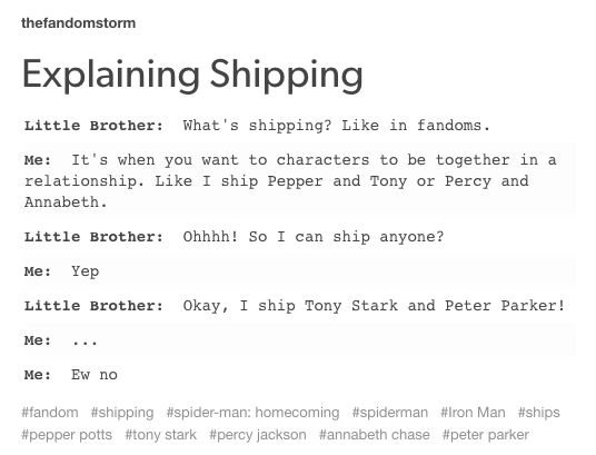 please teach your brother that this isn't supposed to be a thing. teach him about stucky instead.