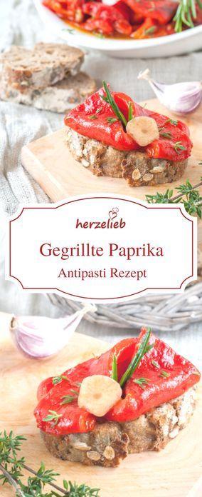 Leckere gegrillte und marinierte Paprika! Antipasti wie vom südländischen Spezialitätenhändler.  Ein Rezept von herzelieb