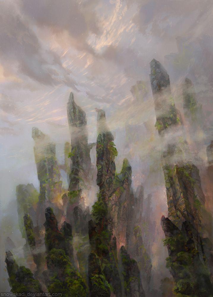 Dragon Cliffs by SnowSkadi on deviantART