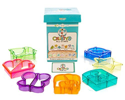 Crusty's All-Stars Sandwich Cutters - Set of 7 High-Quali... Do you want to make insanely cute food for your little one? Okay -- well then click here and start the insanity. :)