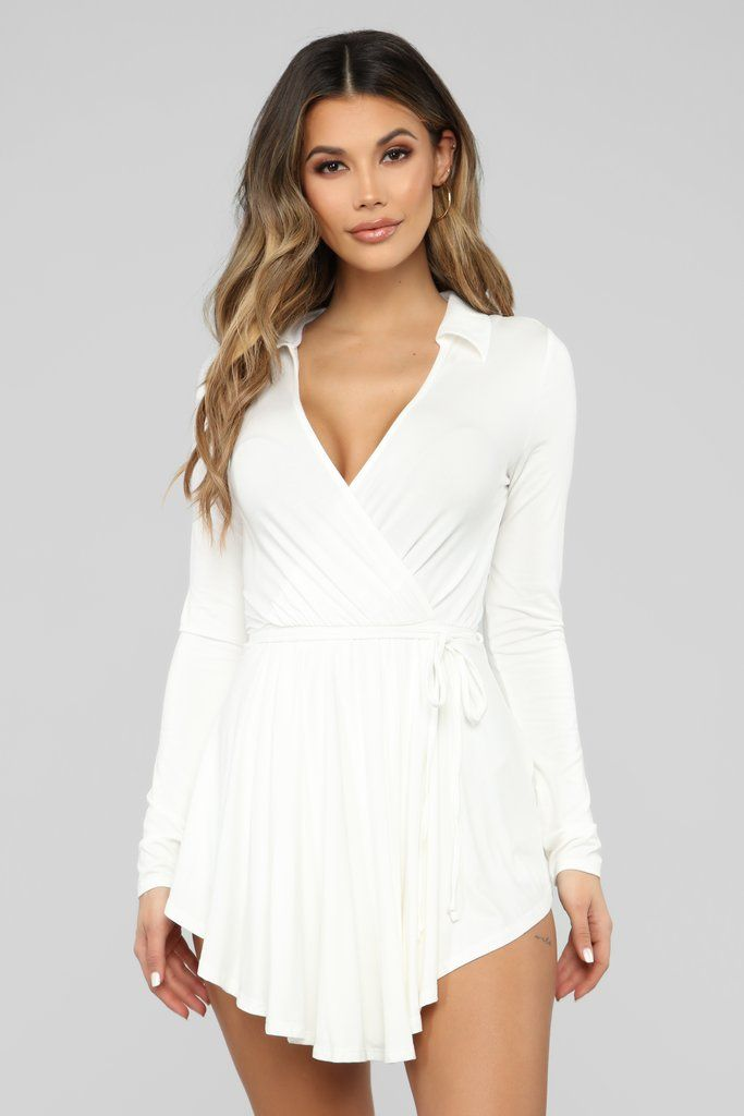c7ed2bb86 Laura Skort Romper - Ivory in 2019 | Bridal party | Rompers, Skort ...