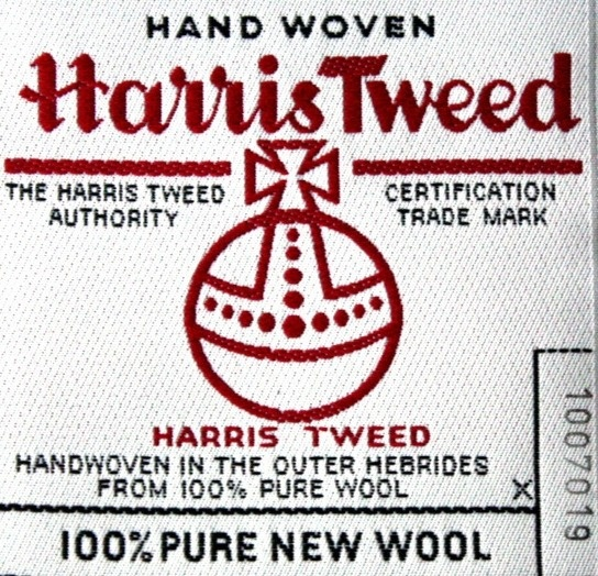 Harris Tweed. Only with this mark, its real Harris Tweed.