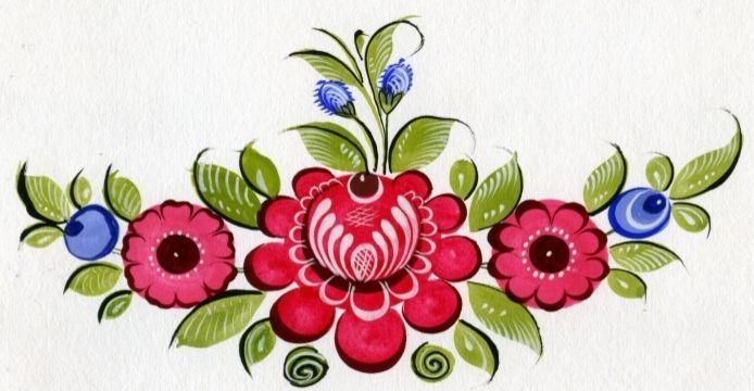 Городецкая роспись, Славянские росписи | Свет Галатеи