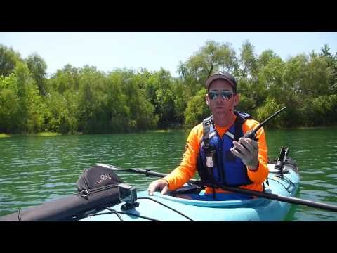 Kayak Fishing: How To Use A Marine VHF Radio To Save Your Life - YouTube