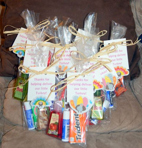 DIY gift bags for the labor and delivery staff
