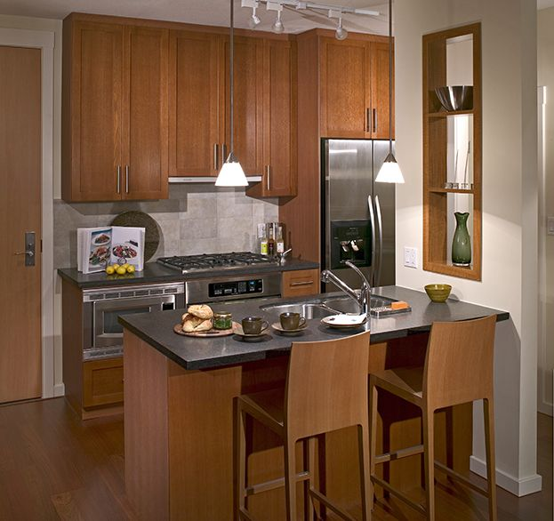 209 best garage apartment images on pinterest for Small kitchen in garage