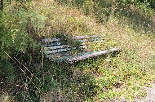 Abandoned bench Statiunea Olimp 2014