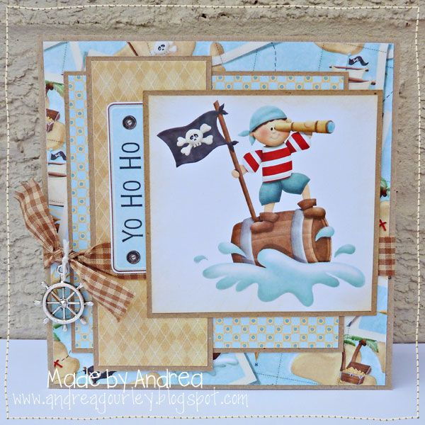 Pirate card for your child's pirate themed party. FQB - Land Ho Collection from Nitwit Collections™
