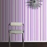 Purple Super Striped Wallpaper by Arthouse