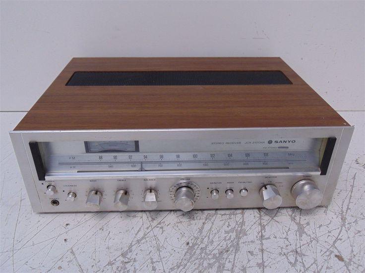 Vintage Sanyo JCX-2100KR 100W FM/AM Stereo Receiver; Japan; Parts/Repair (C) | eBay