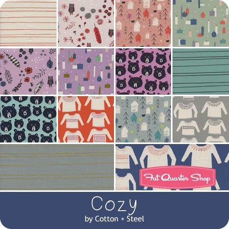 Cozy Fat Quarter Bundle <br/>Cotton + Steel Fabrics