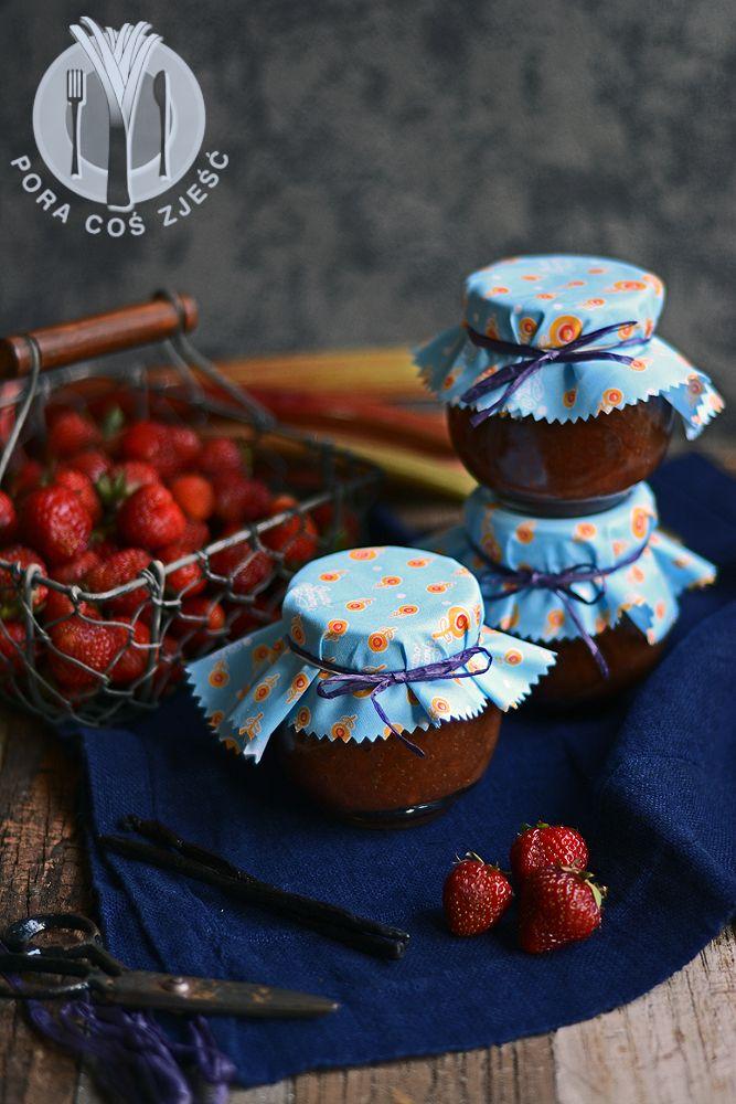 Strawberries and rhubarb jam