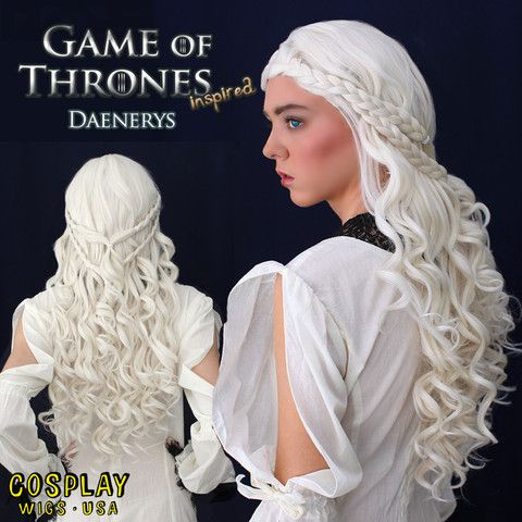Cosplay Wigs USA™ Game of Thrones - Daenerys Targaryen - Khaleesi – Dolluxe®