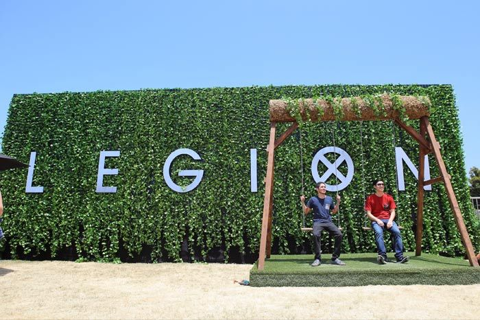 Sessions: The 'Legion' Mixed Reality Experience: A Legion-branded wall and swing set provided a popular photo op outside of the activation. The Legion experience was part of FX's larger Comic-Con presence, which was dubbed FXhibition and was held on the lawn of the Hilton San Diego Bayfront. The four-day fan experience offered several interactive experiences for fans, including a gravity-defying photo booth inspired by Atlanta, a sunscreen-application area inspired by The Strain, and a…