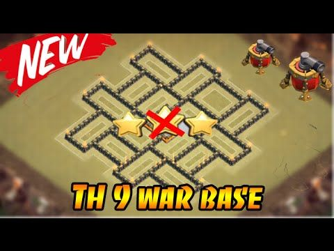 Clash of clans  - Town hall 9/th9 best war base 2015 anti 3star