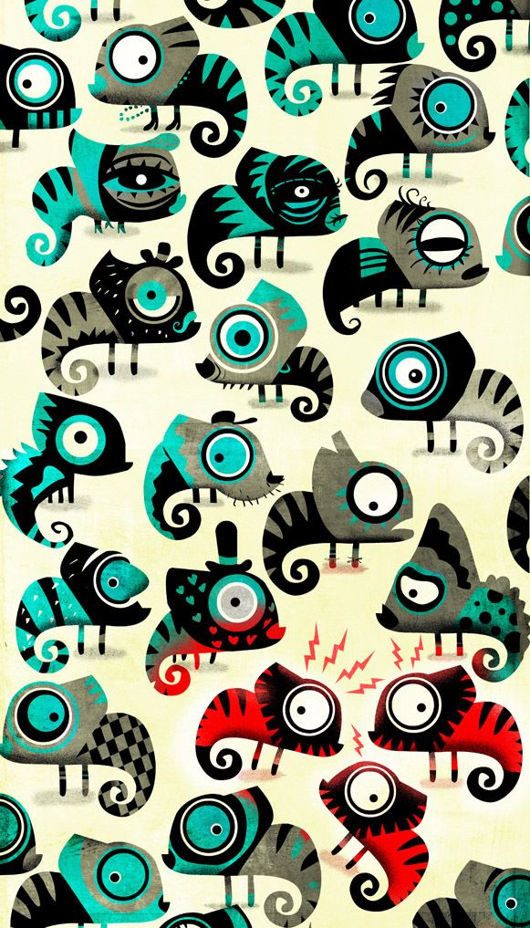 Artwork vector for newspaper by Raul Arias, via Behance