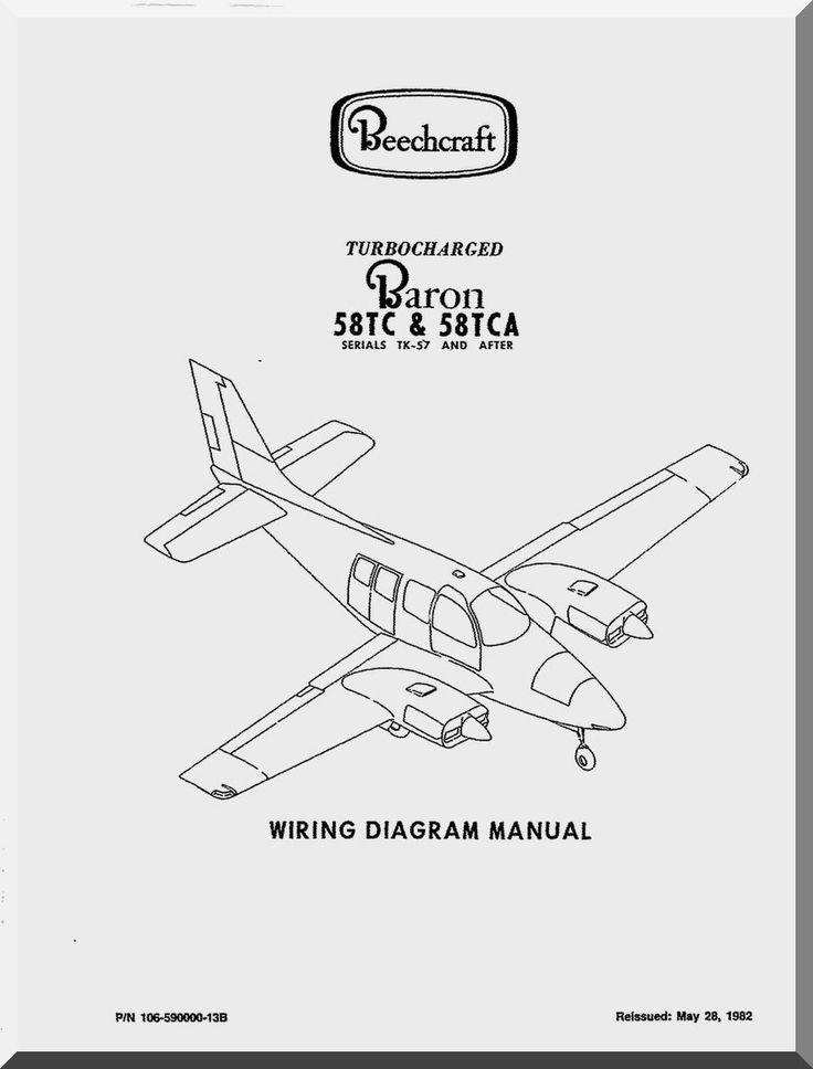 Beechcraft Baron B 55 Aircraft Wiring Diagram Manual - | Aircraft ...